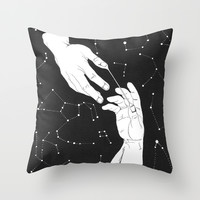 Open the gates to heaven Throw Pillow by Rebekka Berthold