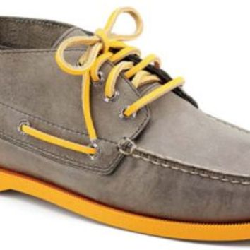 Sperry Top-Sider Authentic Original Color Pop Chukka Boot GrayLeather/Orange, Size 7M  Men's