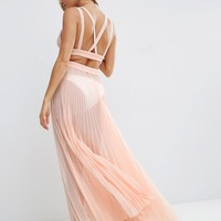ASOS Cut Out Pleated Beach Maxi Beach Dress at asos.com