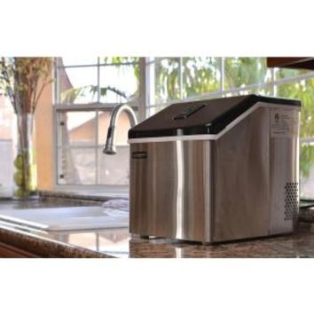 Luma Comfort, 28 lb. Portable Freestanding Clear Ice Maker in Stainless Steel, IM200SS at The Home Depot - Mobile