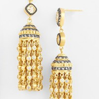 Women's Freida Rothman Tassel Drop Earrings - Gold/ Black/ Clear