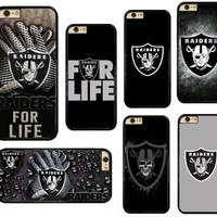 NEW Oakland Raiders PC+TPU Edge Cell Phone Case Cover Fits For iphone XS MAX XR X 5 5s 6 6s 6s plus 7 7 8 8 plus CAPE