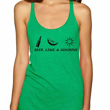Beer lime and sunshine Women's Triblend Tanktop