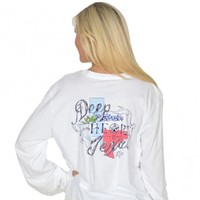 Heart of Texas Long Sleeve Tee in White by Lauren James