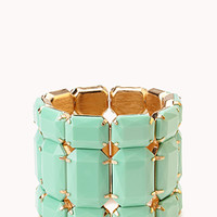 FOREVER 21 Show Off Faux Stone Bracelet Mint One