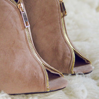 Honey Suede Heels