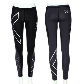 2016 Women's Fashion 2XU Professional Lycra Pants/ Trousers Compression Speed Dry Nylon Stretch Fitness Pants 4 Colors [9305969607]