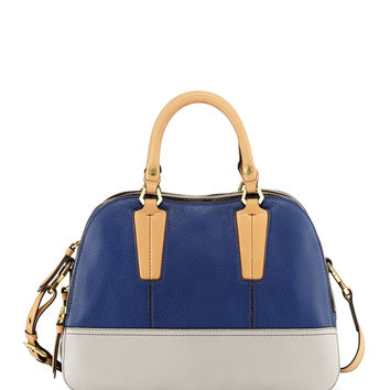 Leslie Colorblock Satchel Bag, Indigo Multi - Oryany