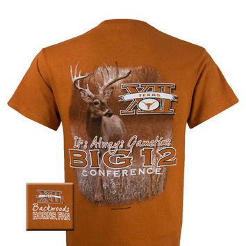 Texas Longhorns Gametime Deer Backwoods Unisex Bright T Shirt