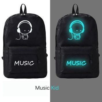 Men Oxford Backpack College Student Female Women School Bags Backpacks Teenagers Luminous Casual Rucksack Travel mochila goods
