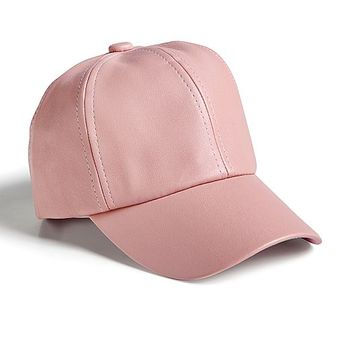 Faux leather baseball cap by VENUS
