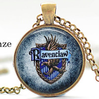 Ravenclaw Pendant, Blue Ravenclaw Pendant, Harry Potter Pendant, Movie Pendant, gift under 15 free shipping