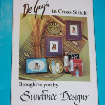 De Grazia in Cross Stitch Patterns Sundance Designs Book 1 Southwestern Theme