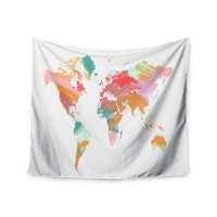 "Chelsea Victoria ""Wild World"" Travel Painting Wall Tapestry"