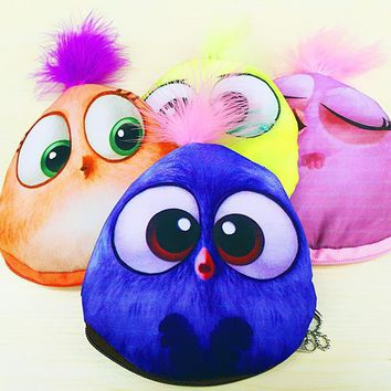 2017 Cute Chicken Women Cotton Coin Purses Children Holders Zipper Money Bag Girls Pouch Kids Small Wallets Coin Bank Case Gifts