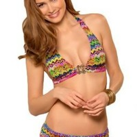 Becca by Rebecca Virtue Versailles Banded Halter Top:Amazon:Clothing