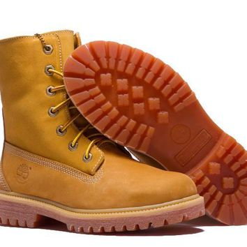 qiyif Timberland Rhubarb Boots Keep Warm Yellow Waterproof Martin Boots