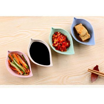 Creative Tree leaf Small Plate Japanese Style Sauce Cutlery Dish Practical Picnic bowl Kitchen Dining Dinner plate  tableware 3