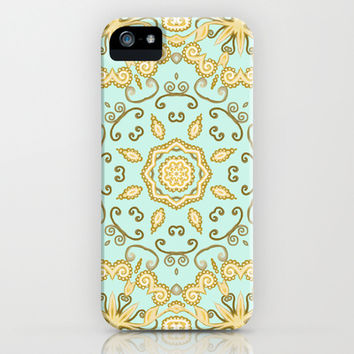 Cassidy in Aqua Mint iPhone & iPod Case by Lisa Argyropoulos