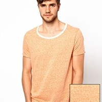 ASOS T-Shirt With Scoop Neck And Neppy Fabric at asos.com