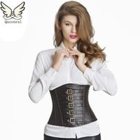 Leather corset  waist trainer corsets steampunk sexy underbust corsets and bustiers steampunk clothing corset sexy Intimates