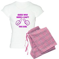 Guess Who Needs A Nap This Girl Funny Women's Light Pajamas | Pajama Set | PJs