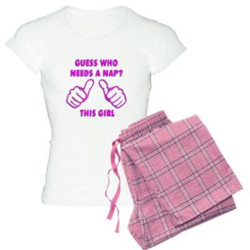 Guess Who Needs A Nap This Girl Funny Women s Light Pajamas  50483f4ed