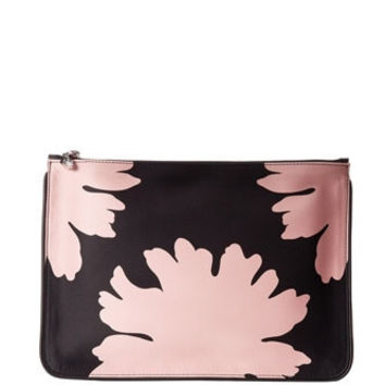 Alexander McQueen Floral Print Pouch Small Clutch