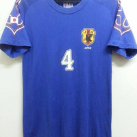 Sale Vintage 1990s Japan Jfa Ihara #4 Football Promo TShirt