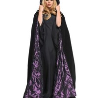 Black and Purple Adult Womens Cape – Spirit Halloween