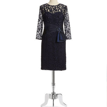 Eliza J Sequin and Lace Dress