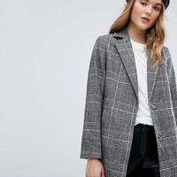 New Look Checked Tailored Coat at asos.com