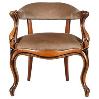 Danish Walnut Library Chair