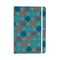 "Jolene Heckman ""Turquoise Mini"" Teal Flowers Everything Notebook"