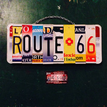 Recycled. Car. Decor. Man. Boy. Room. Nursery. License plate. Baby. Mancave. Beer