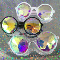 Kaleidoscope Glasses / Kaleidoscope Sunglasses / Prism Glasses / Trippy Glasses / Rave Glasses / Crystal Glasses / Revo Mirrored Sunglasses