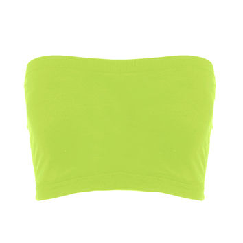 Seamless Crop Tube Top Neon Lime