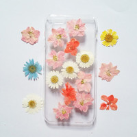 iPhone 6s Case pressed flower clear case for apple iphone 4 4s 5 5s 5c 6 6 plus 6s 6s plus pressed flower iphone case pink flower phone case