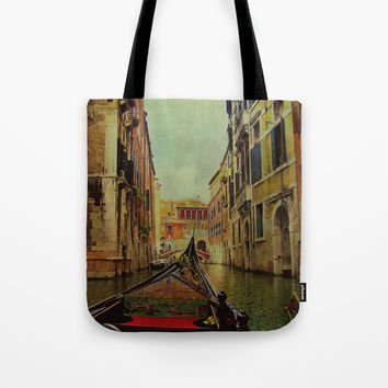Venice, Italy Canal Gondola View Tote Bag by Theresa Campbell D'August Art