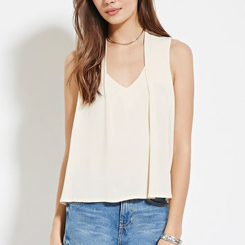 Contemporary Pleat-Shoulder Top