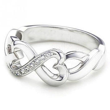 Infinity Shaped Ring for Women