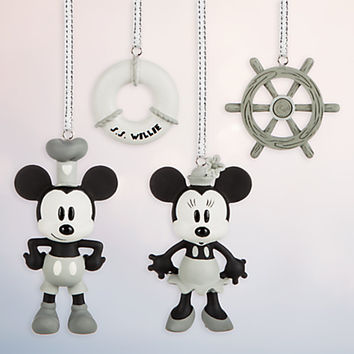 Steamboat Willie Sketchbook Minis Ornament Set | Disney Store