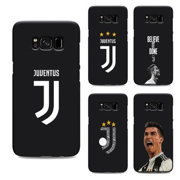 cristiano ronaldo juventus jersey CR7 soft Silicone black cover phone case for samsung galaxy s7 edge s6 s5 s8 s9 plus  Housing