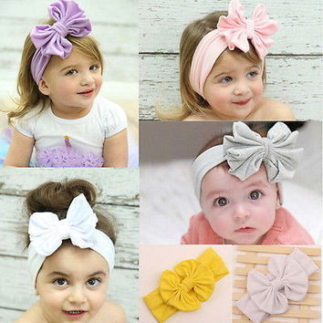 1 Pcs Big Bow Headband For Baby and Kids Christmas Hairbands for Baby 3C
