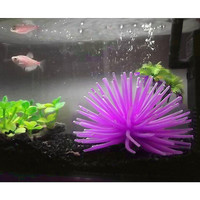 Artificial Coral Aquarium Fish Tank Silicone Sea Anemone Artificial Coral Actinozoan Ornament Purple Decor