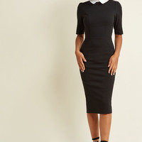 Collectif Make My Wednesday Fitted Midi Dress