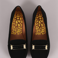 Qupid Double-Strand Slip-On Loafer Flat