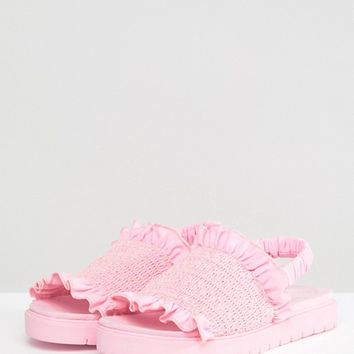 Monki Rouched Sandal at asos.com