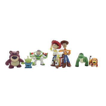 hot NEW 8pcs set 5-12cm Toy Story 3 Buzz Lighter Woody Jessie action Figures PVC Action Figure Model toys Christmas gift toy