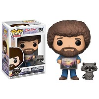 Bob Ross with Raccoon Pop! Vinyl Figure #558
